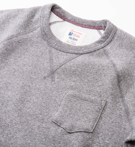 Todd Snyder Champion Pocket Sweatshirt, Salt and Pepper