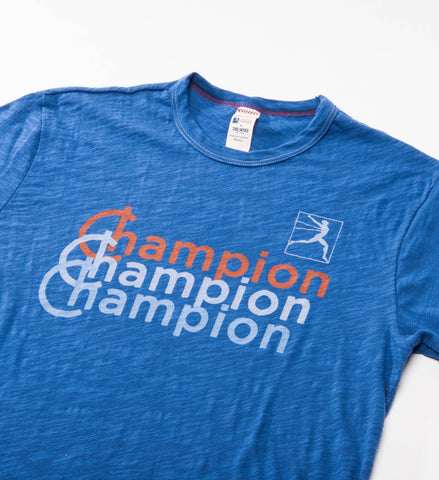 Todd Snyder Champion Shadow Logo Tee, Brilliant Blue