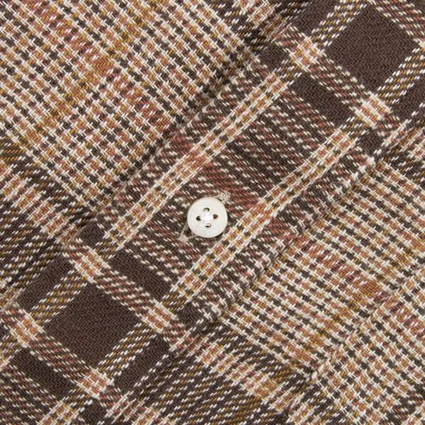 Gitman Cotton Tweed Check Shirt, Brown