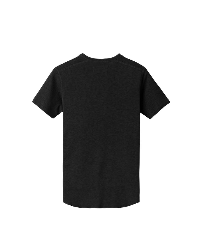 Wings + Horns Slub Short Sleeve Henley , Black