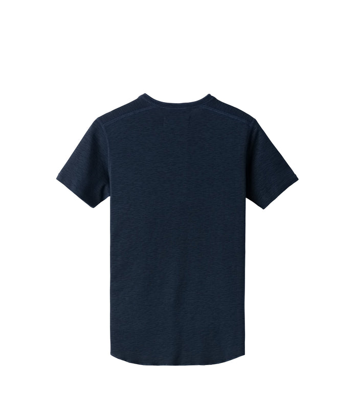 Wings + Horns Slub Short Sleeve Henley , Navy