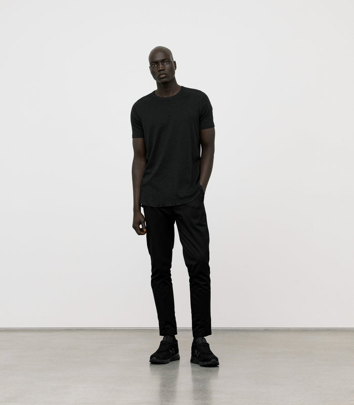 Wings + Horns Slub Short Sleeve, Black