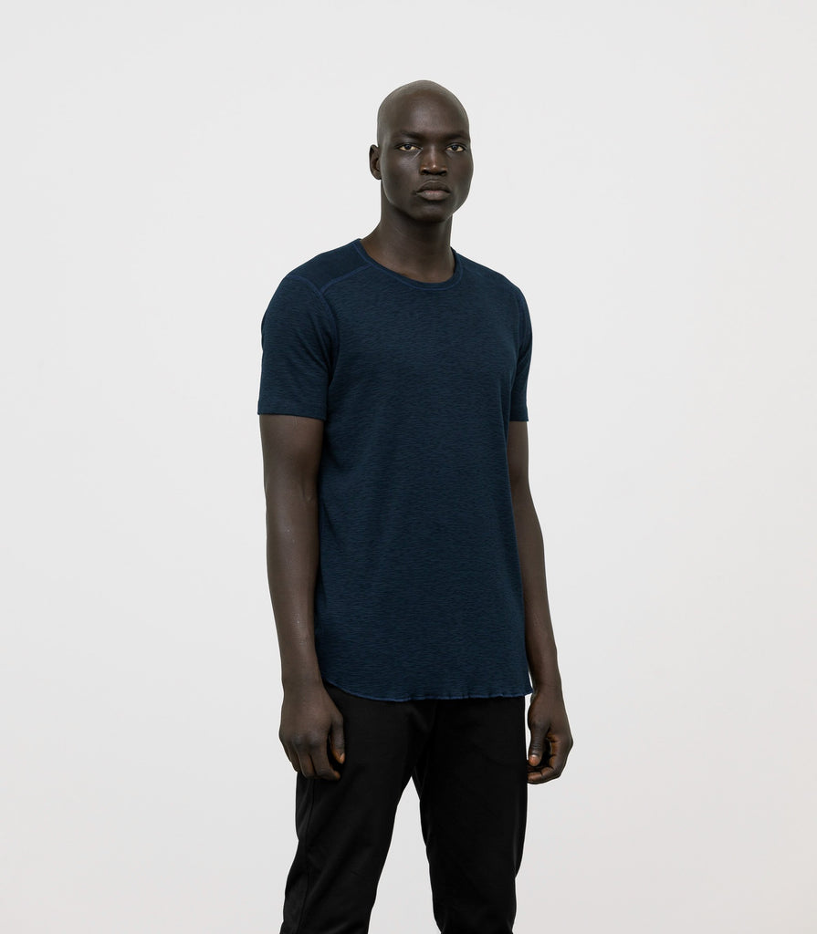 Wings + Horns Slub Short Sleeve, Navy