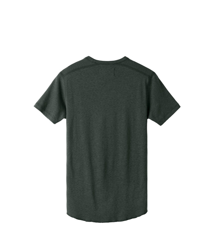 Wings + Horns Slub Short Sleeve Henley , Pine
