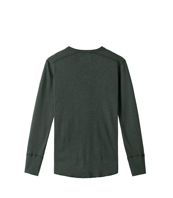 Wings + Horns Slub Long Sleeve Henley , Pine