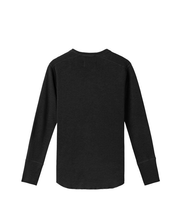 Wings + Horns Slub Long Sleeve , Black