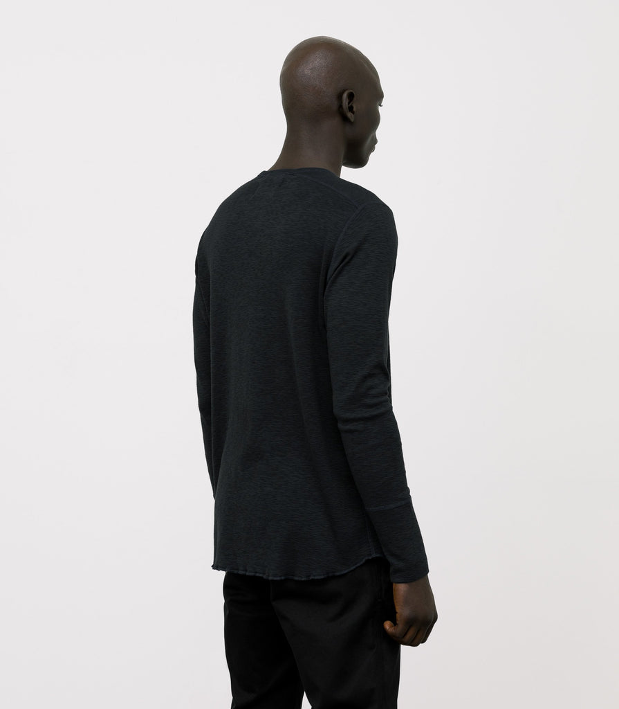 Wings + Horns Slub Long Sleeve, Black