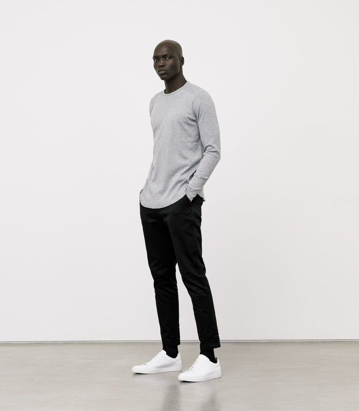 Wings + Horns Slub Long Sleeve , Heather Grey
