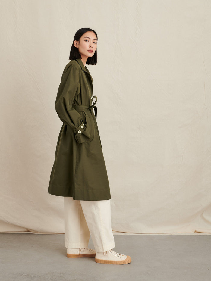 Alex Mill Gene Trench Coat, Olive