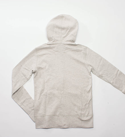 Wings + Horns Knit Slub Rib Zip Hoodie, Heather Ash