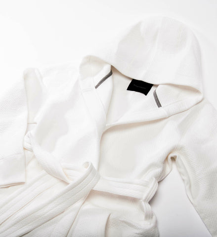 Wings + Horns Knit Cabin Fleece Robe, White