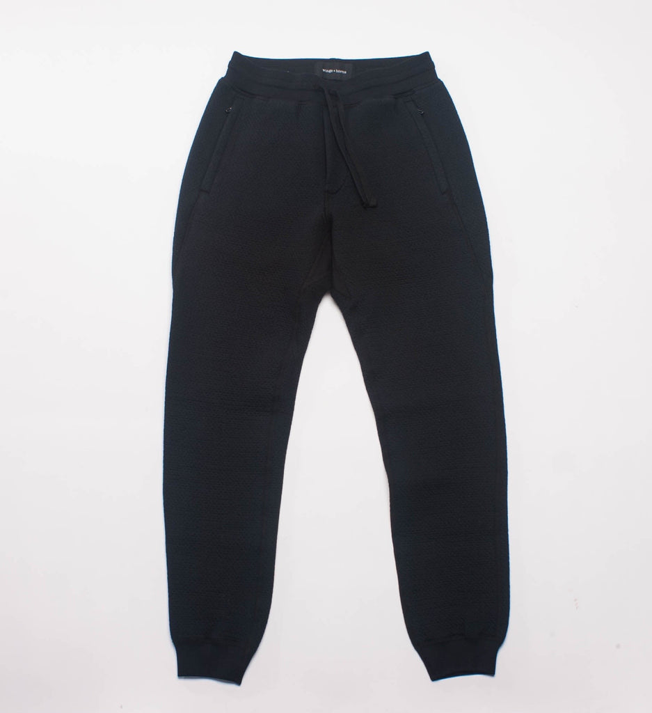 Wings + Horns Cabin Fleece Sweatpants, Black