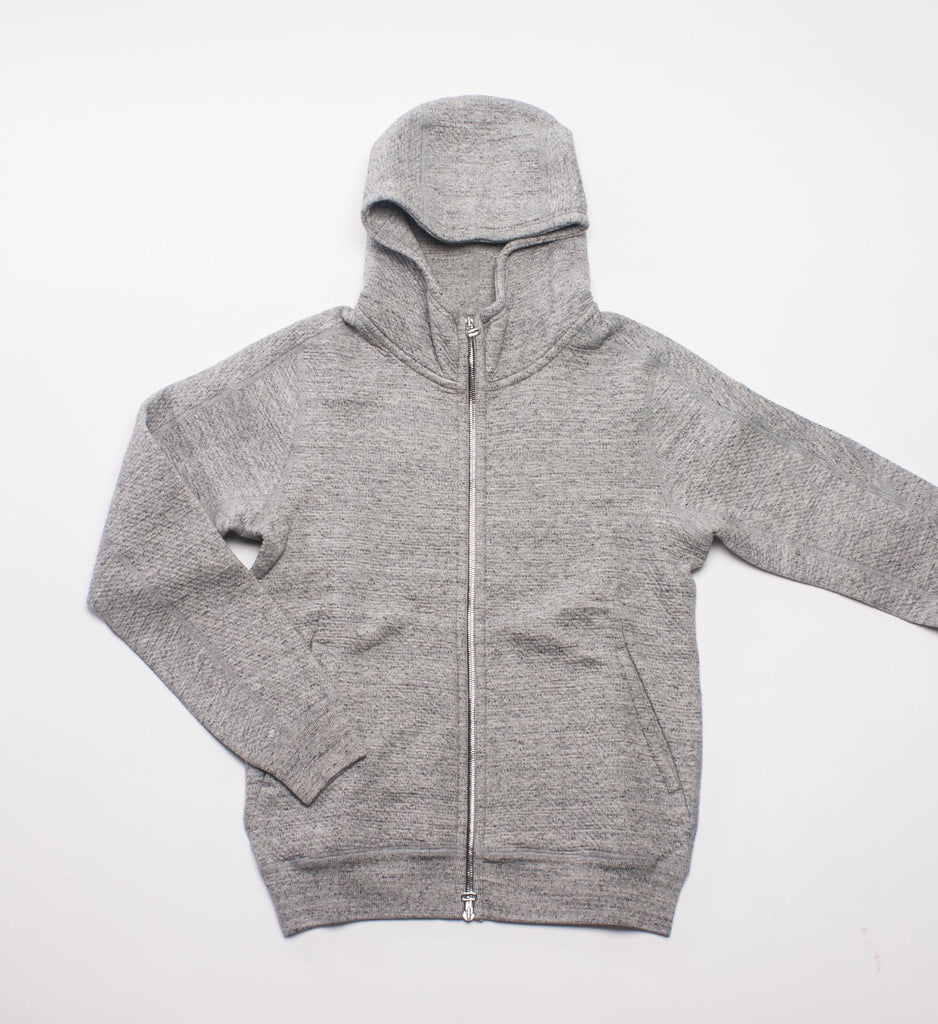 Wings + Horns Cabin Fleece Zip Hoodie, Heather Grey