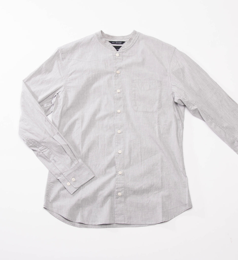 wings+horns Woven Long Sleeve Service Shirt, Grey