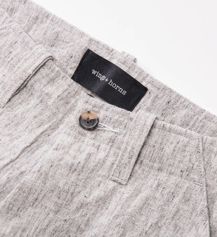 wings+horns Woven Washed Linen BDU Pant, Ash Grey
