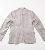 wings+horns Woven Washed Linen Blazer, Ash Grey