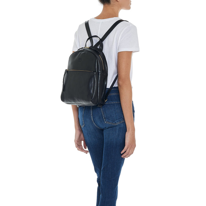 Il Bisonte Cowhide Leather Backpack, Nero