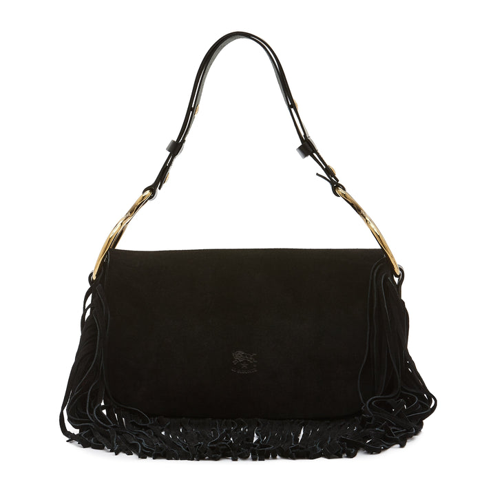 Il Bisonte Cowhide Shoulder Bag, Nero