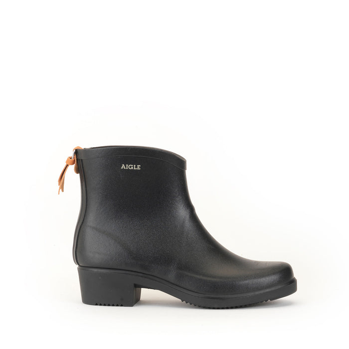 Aigle Miss Juliette Ankle Rain Boot, Black