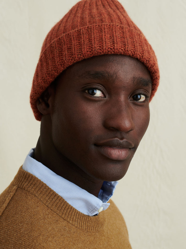 Alex Mill Cashmere Solid Beanie, Spice