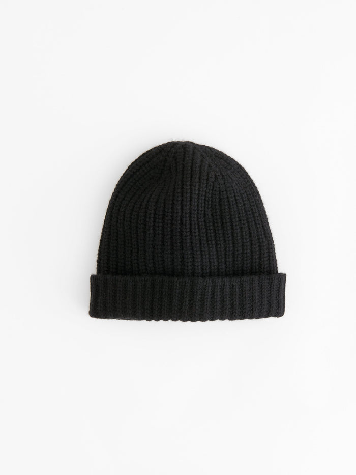 Alex Mill Cashmere Solid Beanie, Black