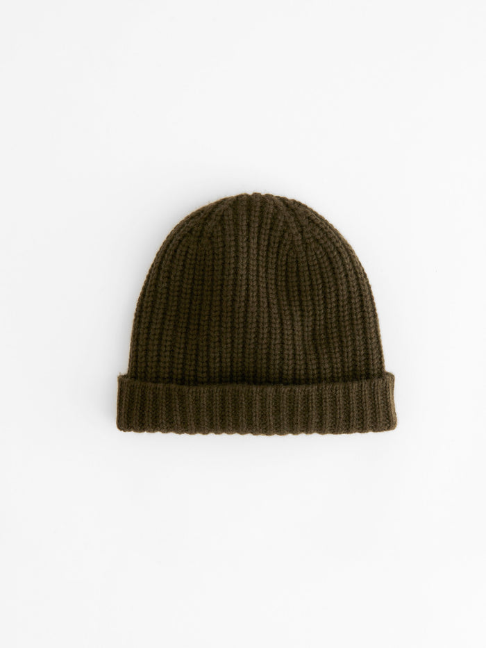 Alex Mill Cashmere Solid Beanie, Heather Olive