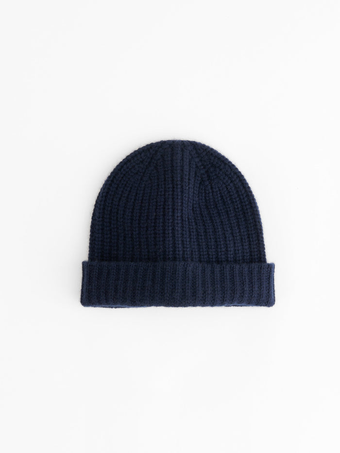 Alex Mill Cashmere Solid Beanie, Navy