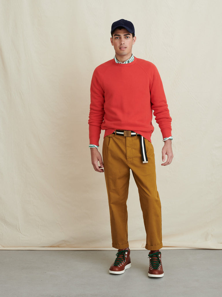 Alex Mill Crewneck Sweatshirt in French Terry , Berry Red
