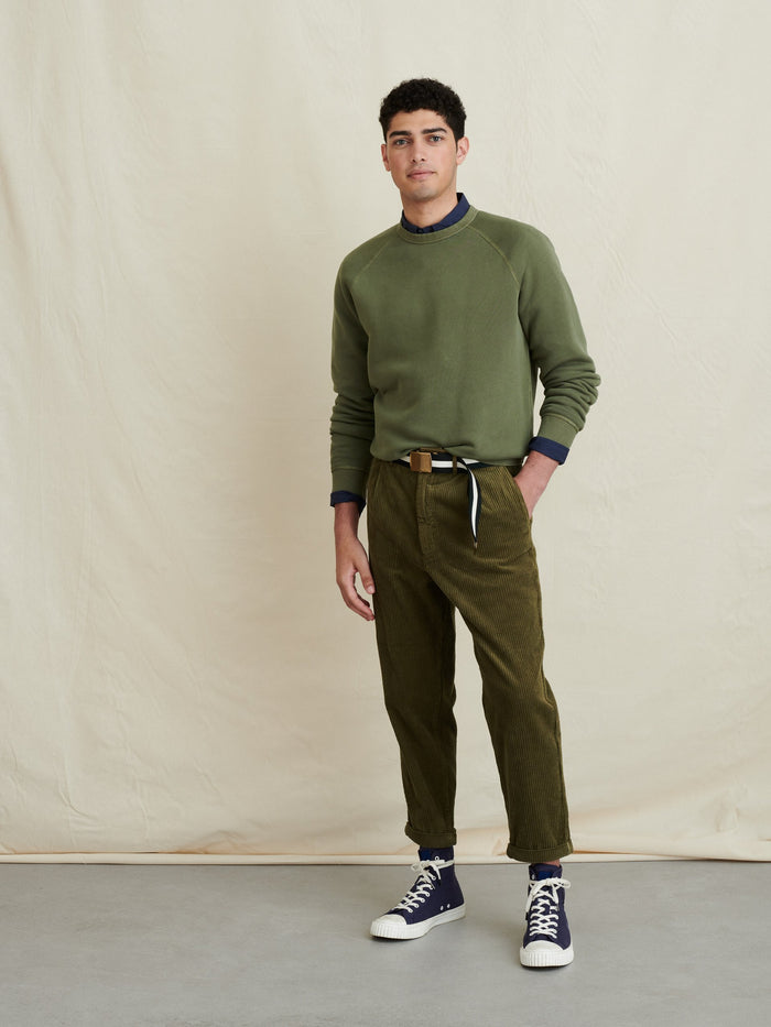 Alex Mill Crewneck Sweatshirt in French Terry , Faded Olive