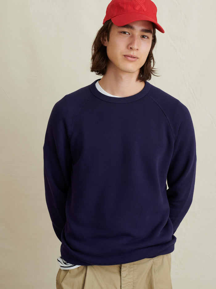 Alex Mill Crewneck Sweatshirt in French Terry , Navy Night