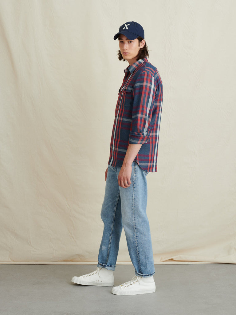 Alex Mill Flannel Chore Shirt , Pink/Indigo