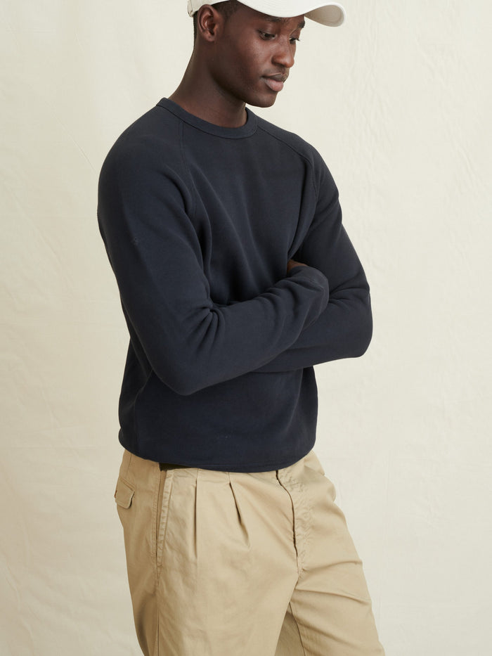Alex Mill Crewneck Sweatshirt in French Terry, Black