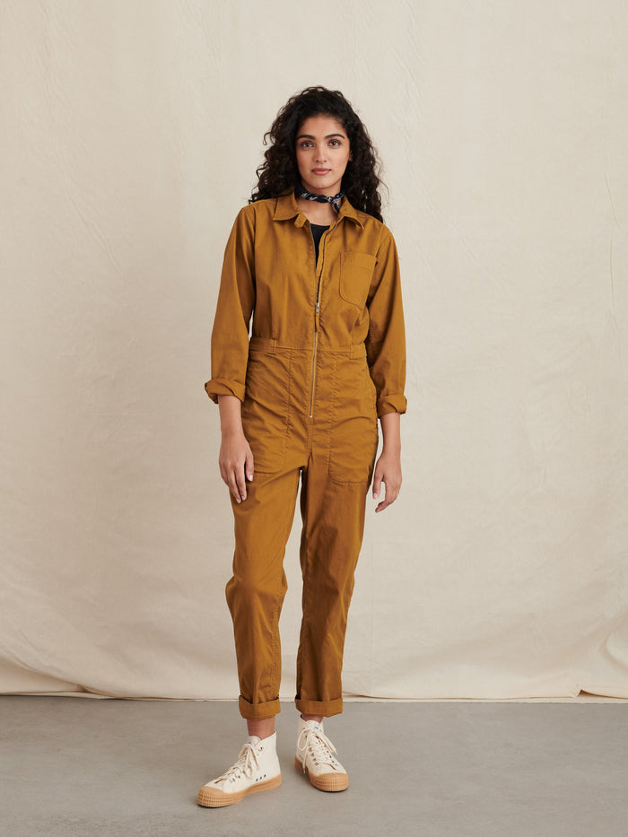 Alex Mill Judd Jumpsuit, Gold Clay