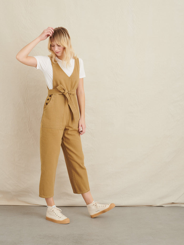 Alex Mill Ollie Overall in Upcycled Denim, Khaki