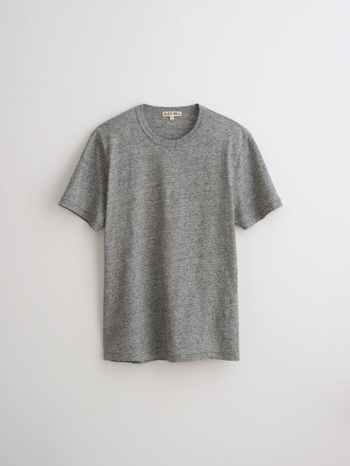 Alex Mill Standard Slub Cotton Tee, Heather Grey