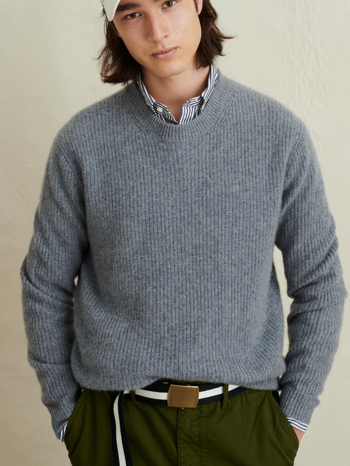 Alex Mill Washed Cashmere Jordan Sweater, Heather Grey