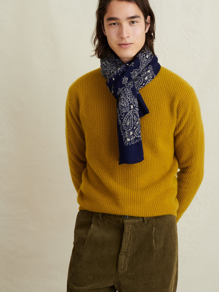 Alex Mill Washed Cashmere Jordan Sweater, Mustard