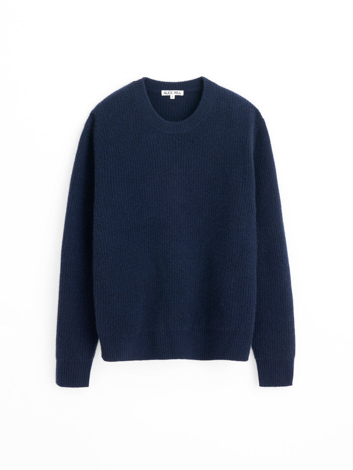 Alex Mill Washed Cashmere Jordan Sweater, Navy