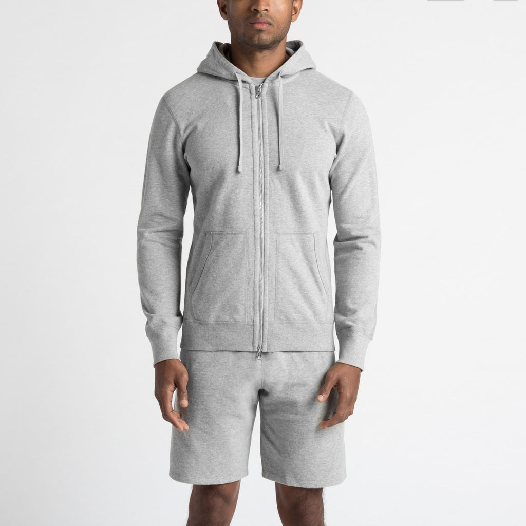 Reigning Champ Lightweight Terry Full Zip, H. Grey