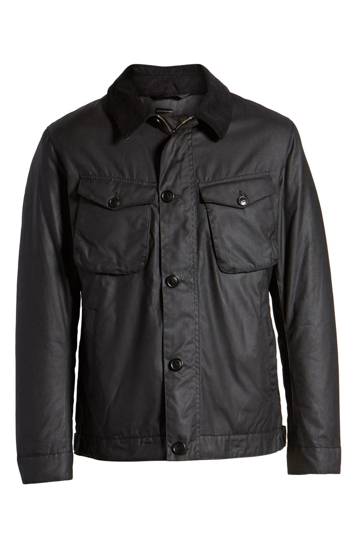 Barbour Keadby Wax Jacket, Black