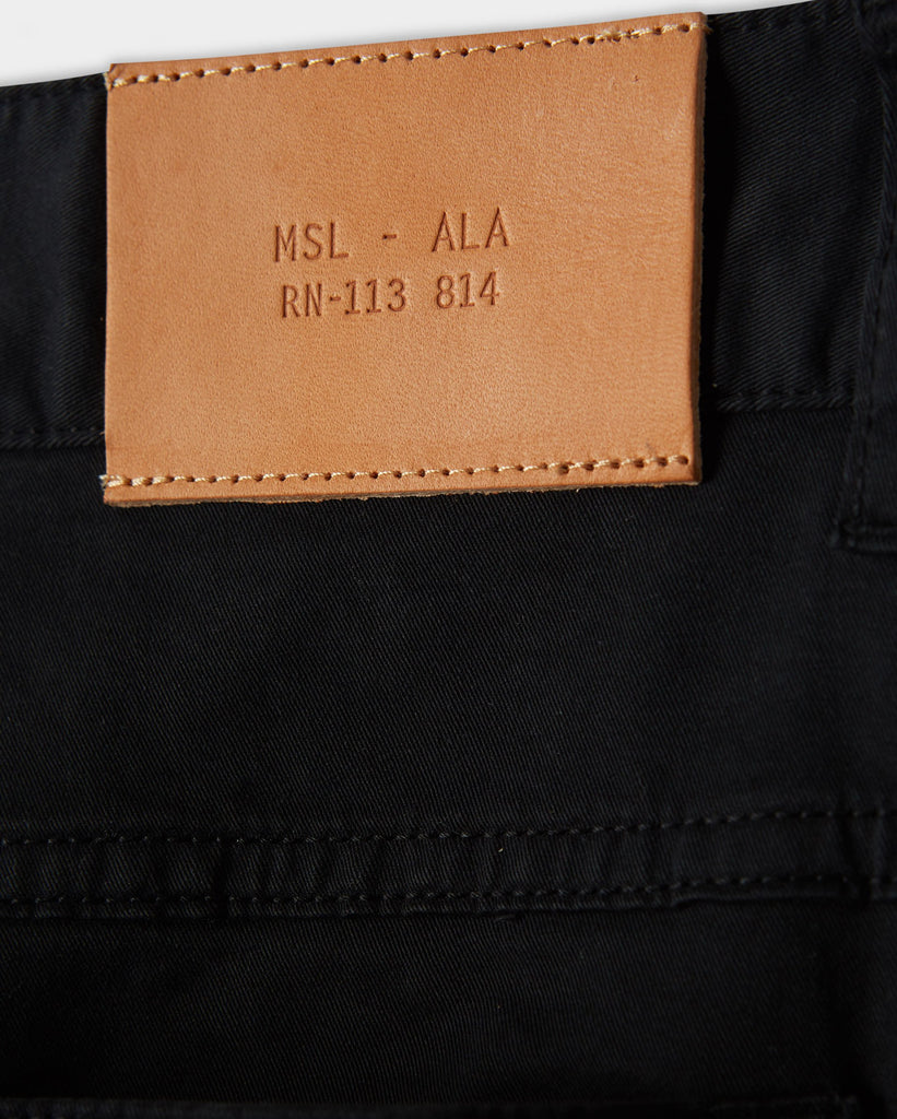Billy Reid 5 Pocket Pant, Black
