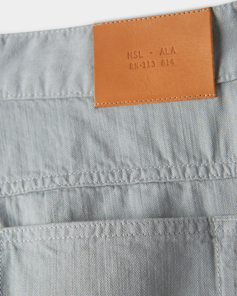 Billy Reid Cotton Linen 5 Pocket Pant, Quarry'