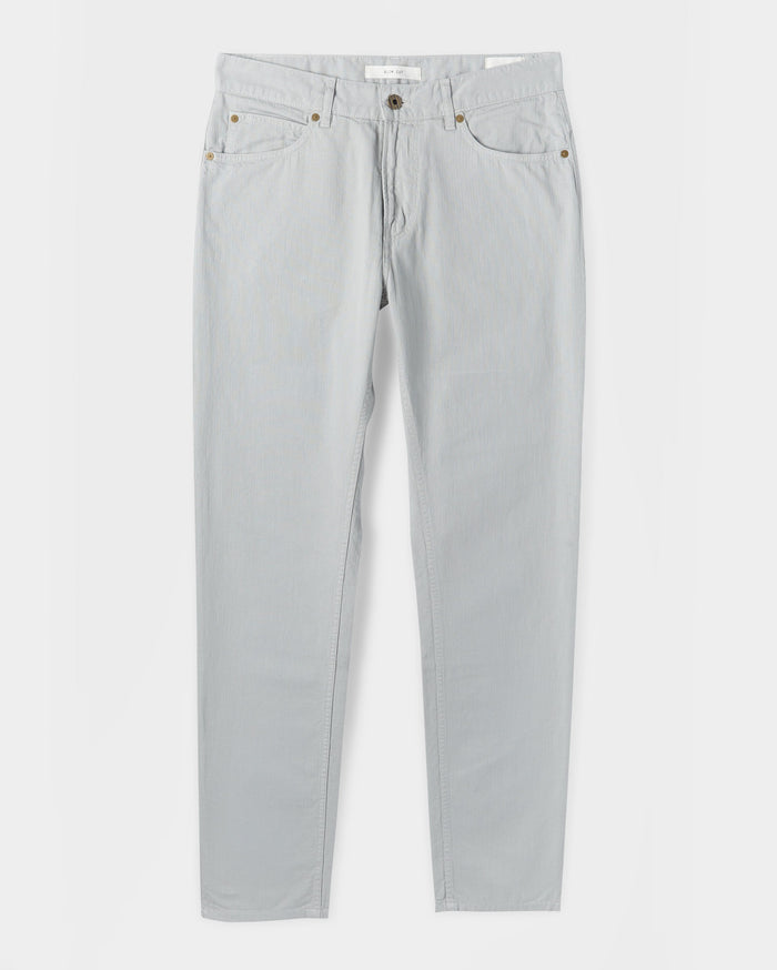 Billy Reid Cotton Linen 5 Pocket Pant, Quarry