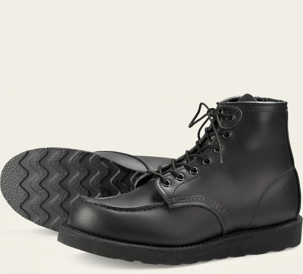 Red Wing Womne's 6-inch Moc, Black Boundary w/ Black Sole (3380)