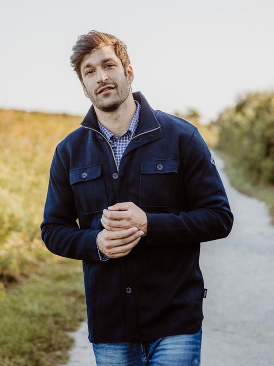 Holebrook Edwin Shirt Jacket, Navy
