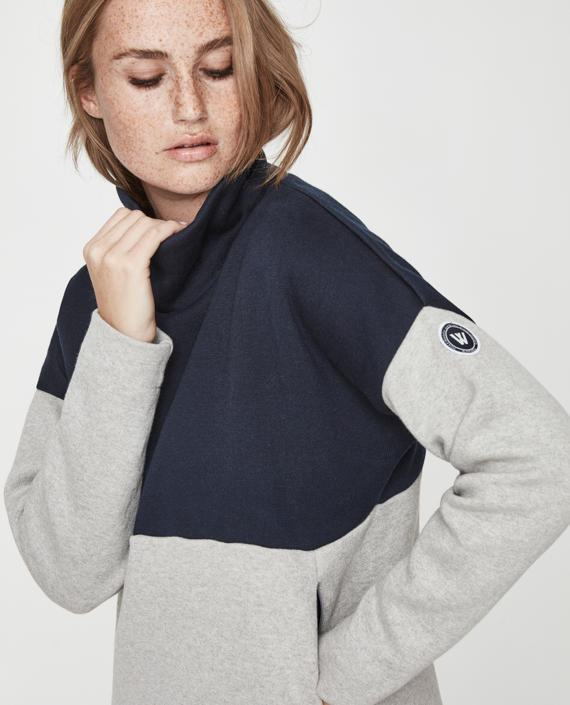 Holebrook Elin WP, Navy/Light Grey Melange