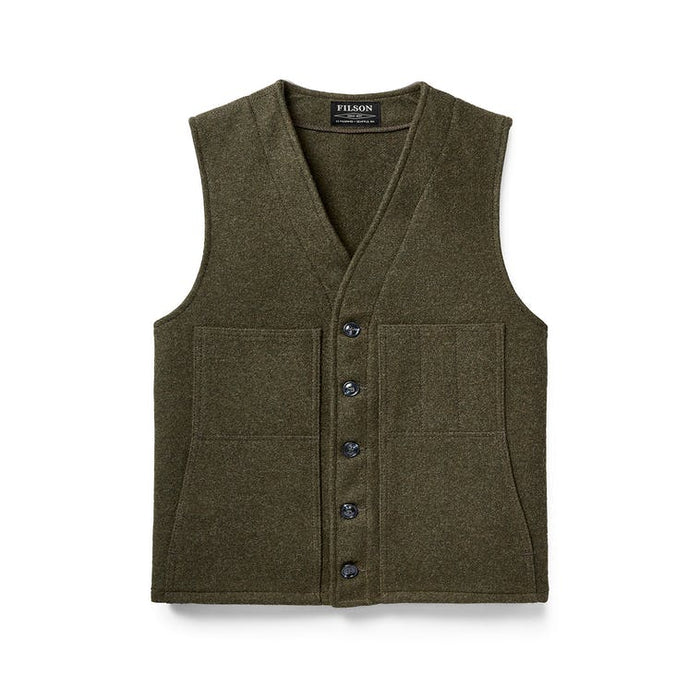 Filson Mackinaw Wool Vest, Forest Green