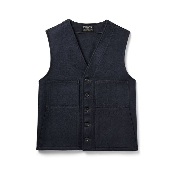 Filson Mackinaw Wool Vest, Navy