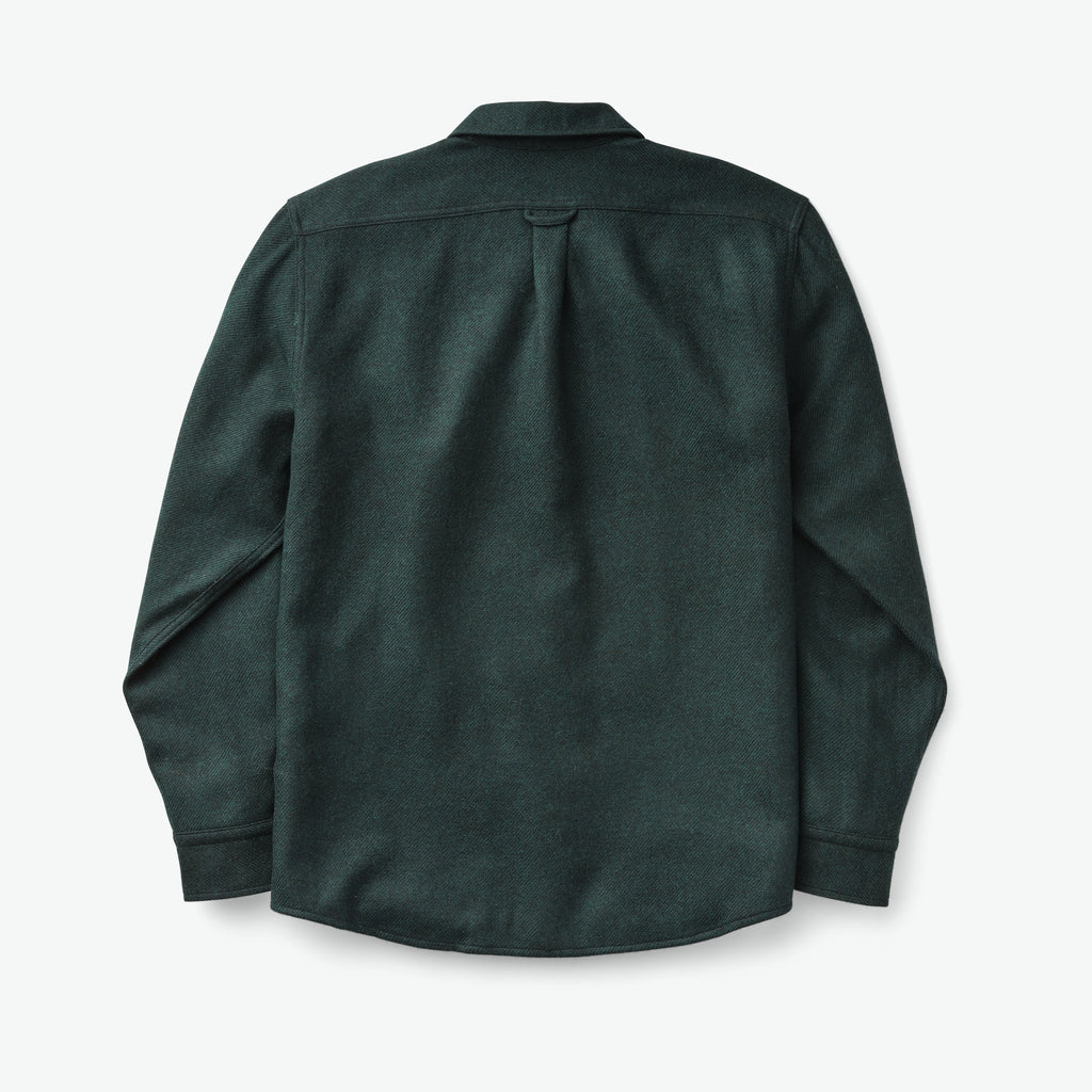 Filson Northwest Wool Shirt, Black/Green Twill