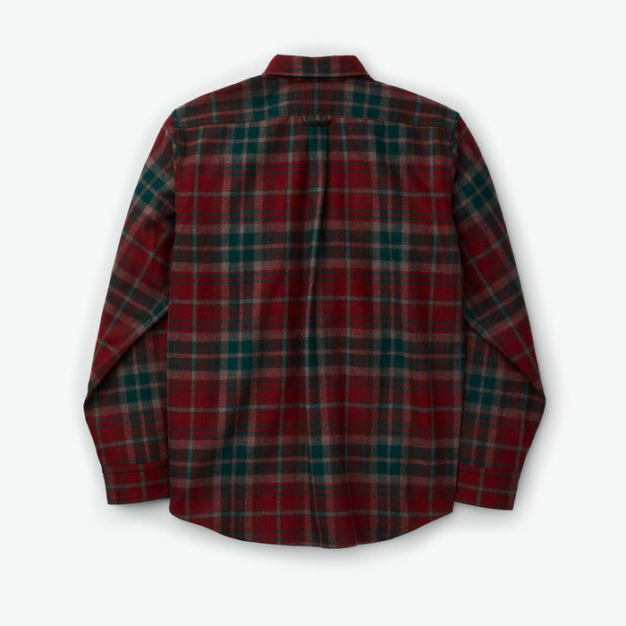 Filson Northwest Wool Shirt, Oxblood/Forest